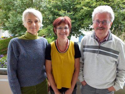 Ragna Juraschitz, Bergith Hornbacher-Burgstaller, Rudolf Kaiserswerth - neuer Vorstand der Grünen Oberstdorf