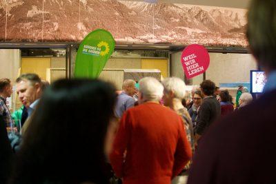 Stand der Oberstdorfer Grünen im Oberstdorf Haus