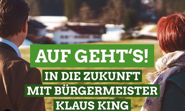 Bürgermeister der Marktgemeinde Oberstdorf Klaus King und Bergith Hornbacher Burgstaller blicken in die Zukunft